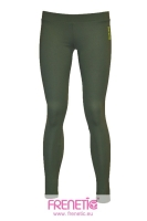 Khaki coloured long leggings.